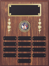 Plaques to track annual award winners