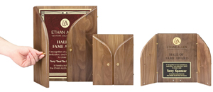 tri-fold awards in wood