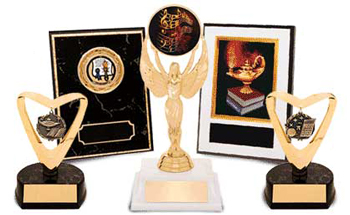 Trophies and Plaques to commemorate events and accomplishments